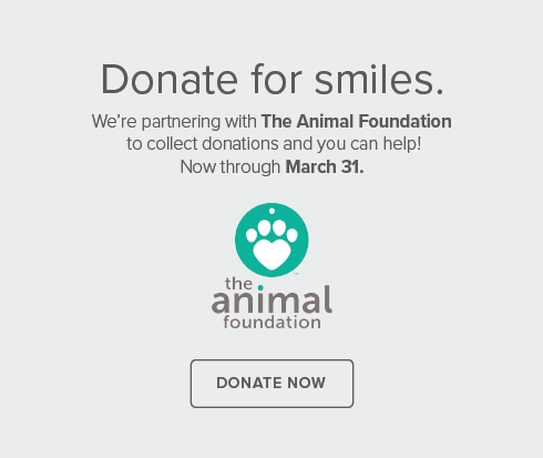 Henderson Dental Group and Orthodontics - We're partnering with The Animal Foundation to collect donations and you can help! Now through 3/31/20.